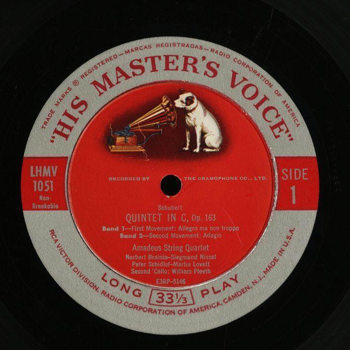 米 RCA Bluebird イダ・ヘンデル クーベリック ベートーヴェン バルビローリ ヤン・スメテルリン ブラームス アマデウス弦楽四重奏団 4LP_画像8