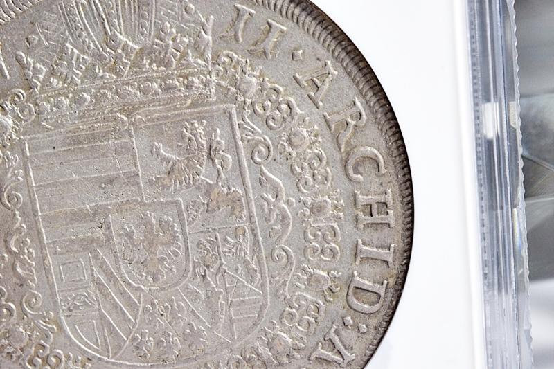 売切り!!1円~迫力の大型銀貨★世界に4枚 NGC鑑定AU 1711年 オーストリア 神聖ローマ帝国 ヨーゼフ1世 ターラー銀貨 ターレル アンティーク_画像7