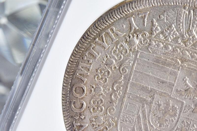売切り!!1円~迫力の大型銀貨★世界に4枚 NGC鑑定AU 1711年 オーストリア 神聖ローマ帝国 ヨーゼフ1世 ターラー銀貨 ターレル アンティーク_画像6
