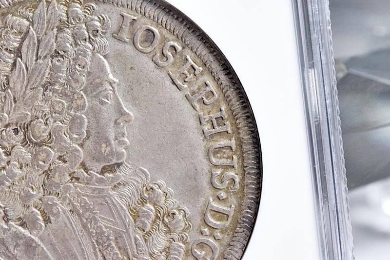 売切り!!1円~迫力の大型銀貨★世界に4枚 NGC鑑定AU 1711年 オーストリア 神聖ローマ帝国 ヨーゼフ1世 ターラー銀貨 ターレル アンティーク_画像4