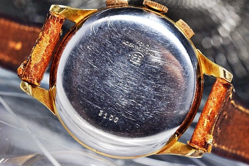 売切り!!1円~美品★ビーナス188 ヴィーナスVenus アラビア 2トーン アップライト アンティーク 手巻き クロノグラフ クロノ 腕時計 1960's_画像7