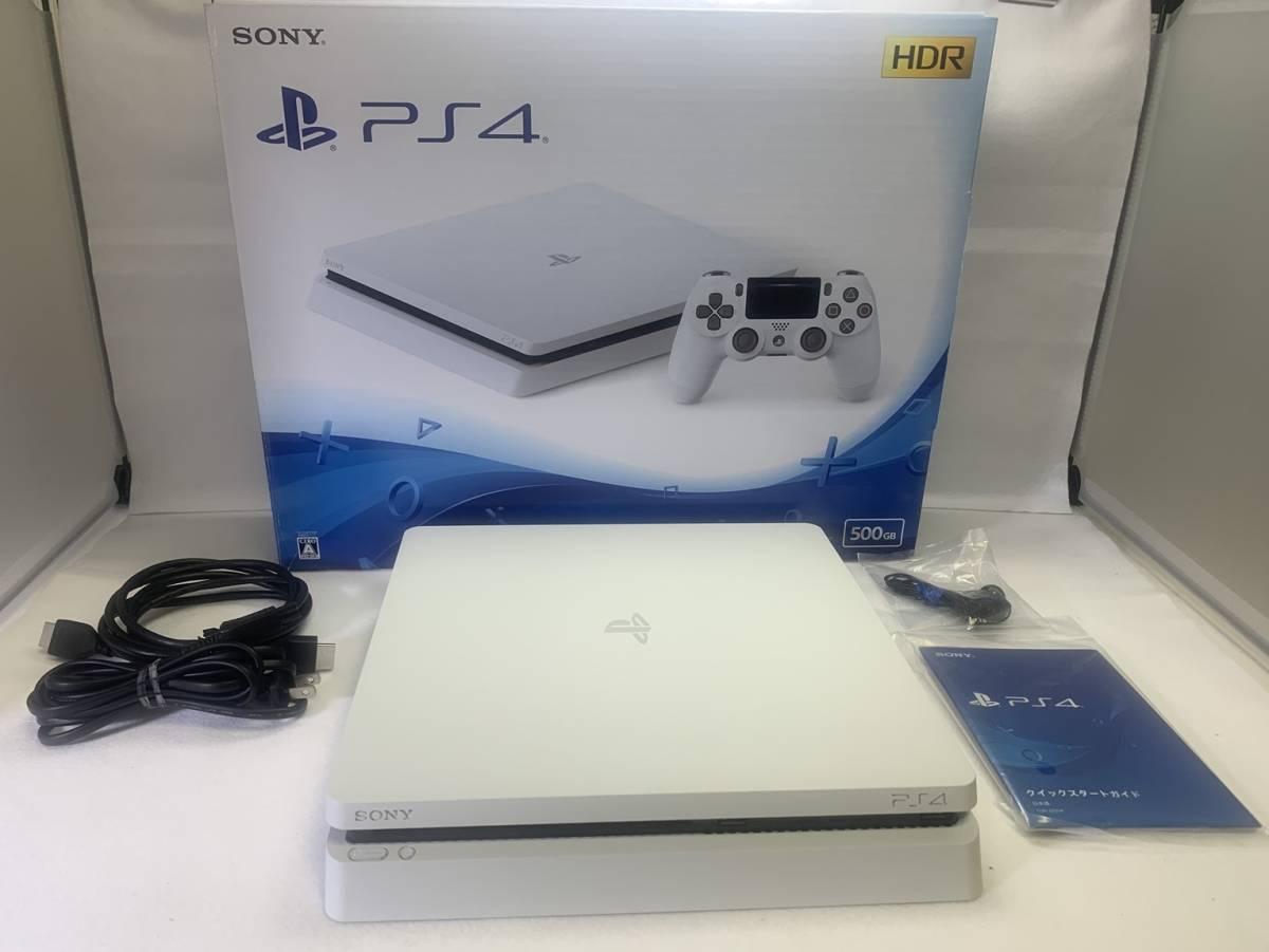 SONY ソニー playstation4 PS4 プレイステーション4 本体 500GB CUH-2200AB02 グレイシャー・ホワイト 外箱 購入店シール 付き 動作確認済