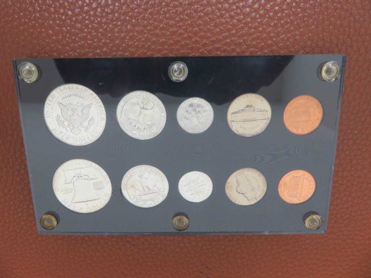 #6302 外国硬貨 アメリカ硬貨 U.S PLOOF SET プルーフ貨幣 未使用コイン ケネディハーフダラー銀貨など _画像2
