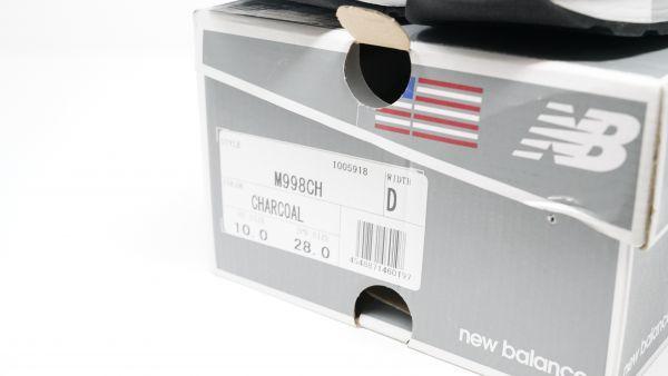 New Balance ニューバランス - M998CH CHARCOAL 28.0cm Dウィズ USA製 新品未使用・生産終了品番 (検 M576 M995 M1400 M1300 M1500_画像10