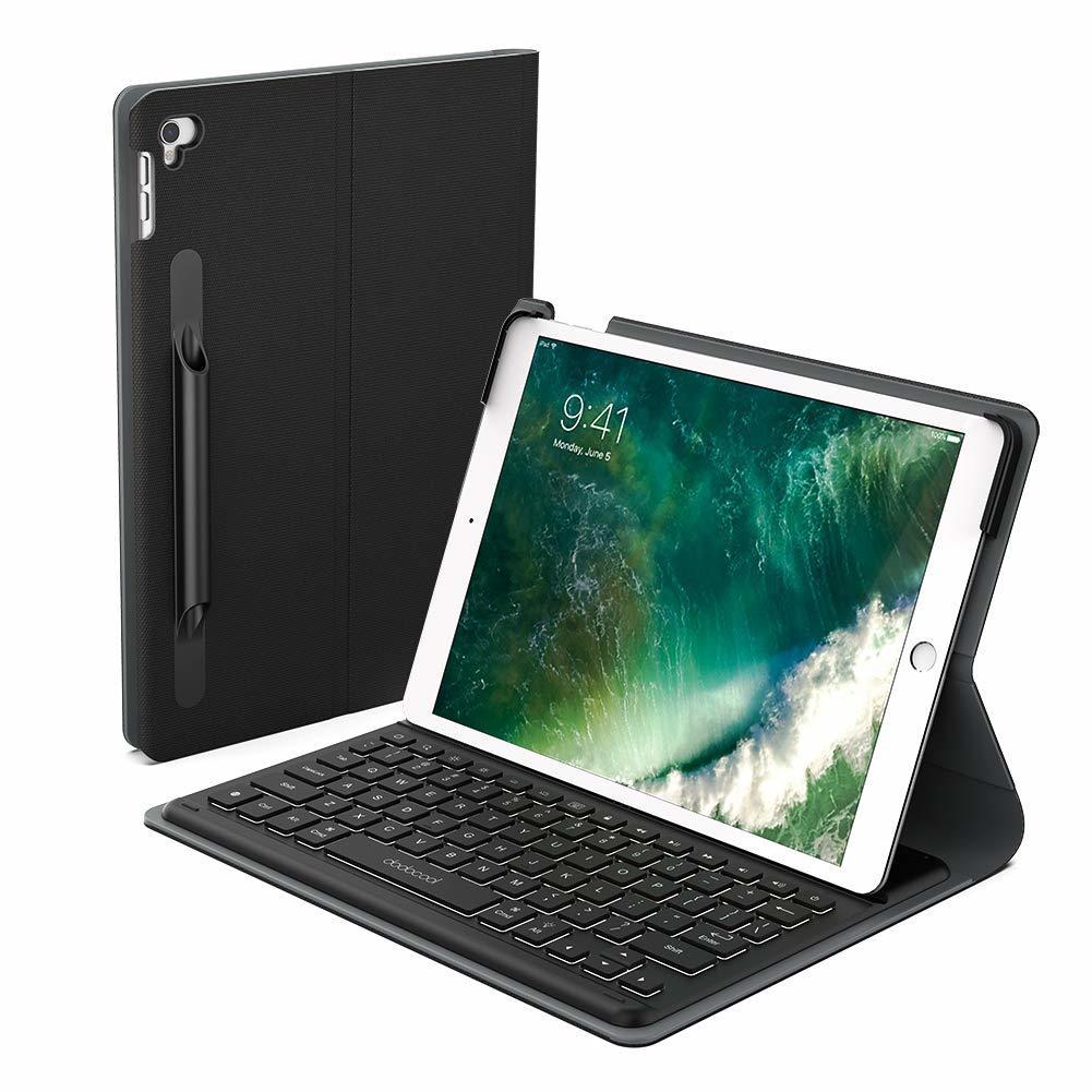 201 iPad Pro 10.5 キーボード Smart Connector接続 充電不要 ケース付け Apple Pencilケース付け バックライトキーボード調節可能