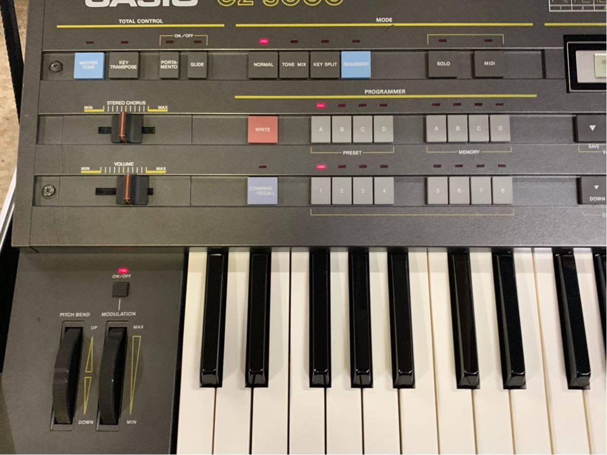 CASIO CZ-5000 シンセサイザー ジャンク扱い ケース 説明書付 全鍵盤音出しできました0008_画像2