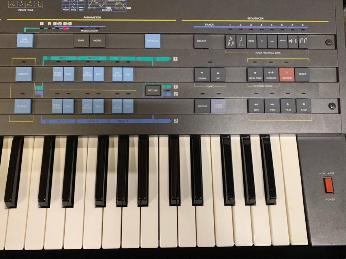 CASIO CZ-5000 シンセサイザー ジャンク扱い ケース 説明書付 全鍵盤音出しできました0008_画像4