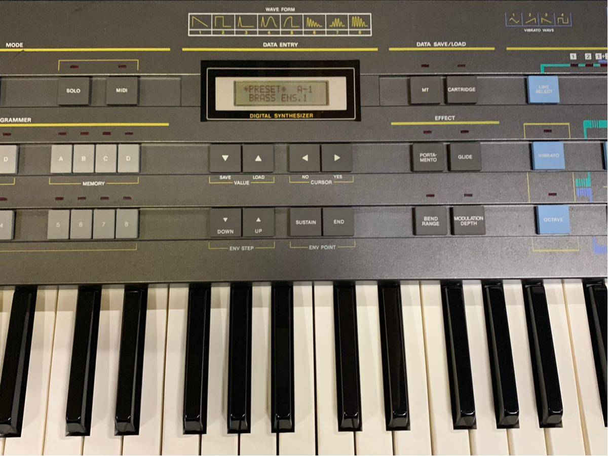 CASIO CZ-5000 シンセサイザー ジャンク扱い ケース 説明書付 全鍵盤音出しできました0008_画像3