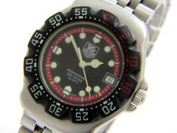 1 yen TAG HEUER / TAG Heuer Professional QZ operation product (GG 60)