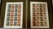 citron157 - 戦後50年メモリアルシリーズ第5集★美空ひばり★石原裕次郎の★切手シート