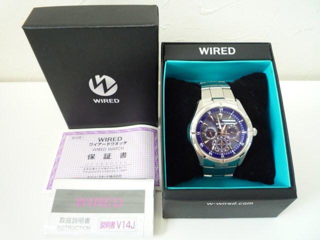 ◆◇SEIKO セイコー ワイアード WIRED【V14J-OBV1】 ソーラー腕時計 稼動品◇◆