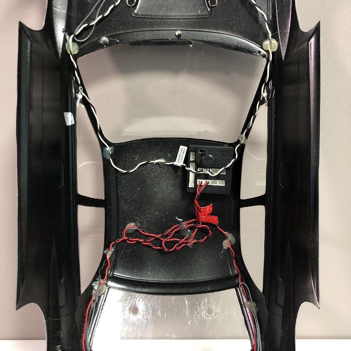 売切!1円スタート!タミヤ 1/10 電動RC ボディセット スバル インプレッサ WRC 塗装済 ジャンク 社外ウイング ライトユニット付_画像8