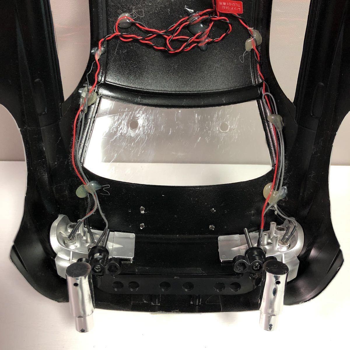 売切!1円スタート!タミヤ 1/10 電動RC ボディセット スバル インプレッサ WRC 塗装済 ジャンク 社外ウイング ライトユニット付_画像9