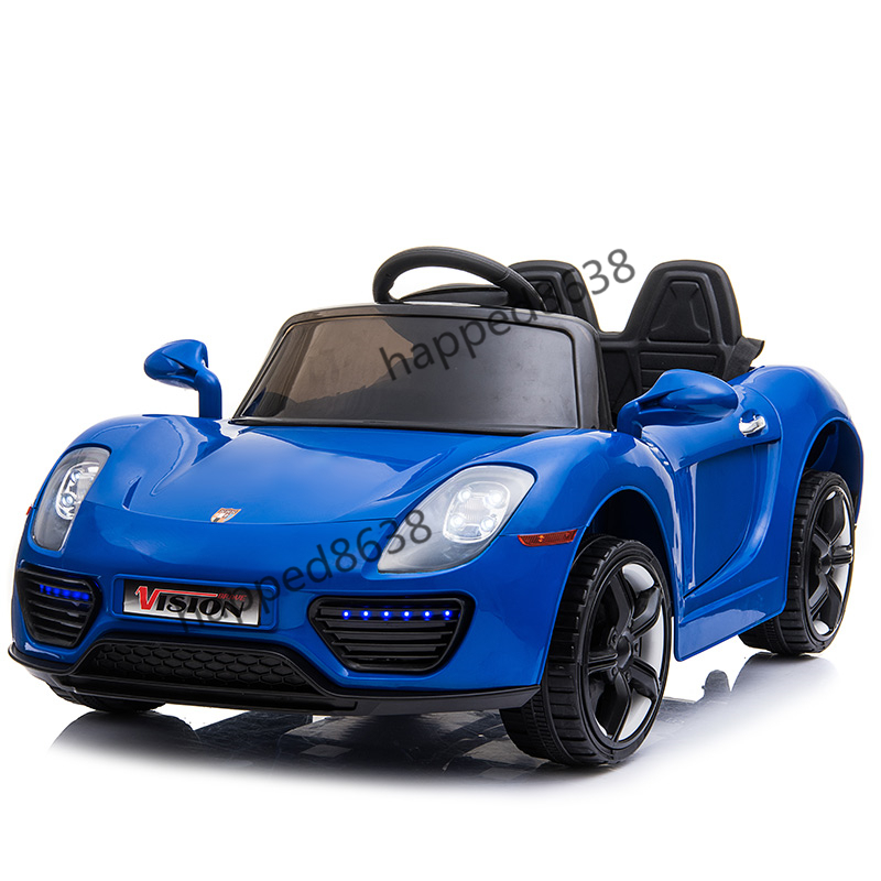 超人気☆乗用玩具 4輪 充電式電動ラジコンカー 個性 アウトドア 多機能 衝撃吸収 リモコンカー スポーツカー 子供用1-6歳 ブルーcc002-3