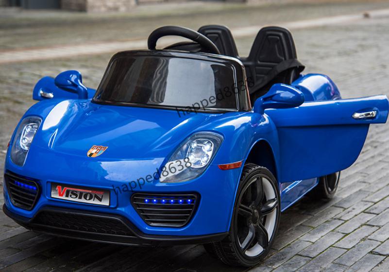 超人気☆乗用玩具 4輪 充電式電動ラジコンカー 個性 アウトドア 多機能 衝撃吸収 リモコンカー スポーツカー 子供用1-6歳 ブルーcc002-3_画像2