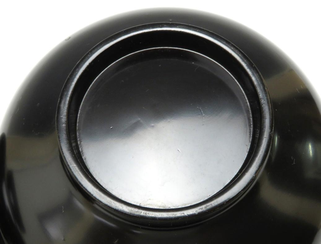 【146】漆器 黒塗 お椀 2客 時代箱 蔵出品 初出し品 _画像10