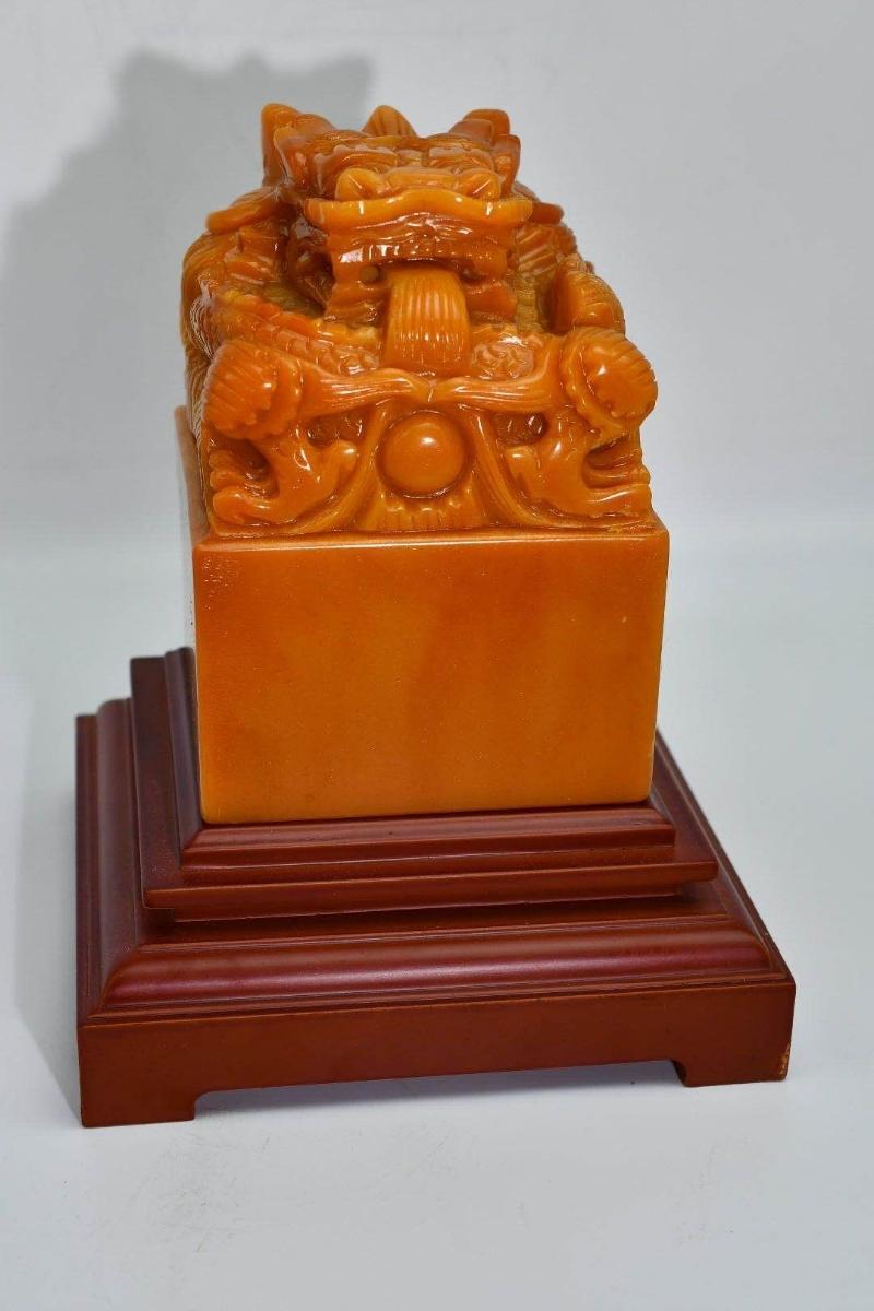 中国古美術 印材 印鑑 篆刻 寿山石 原石彫刻 書道具貴重 田黄石 _画像1