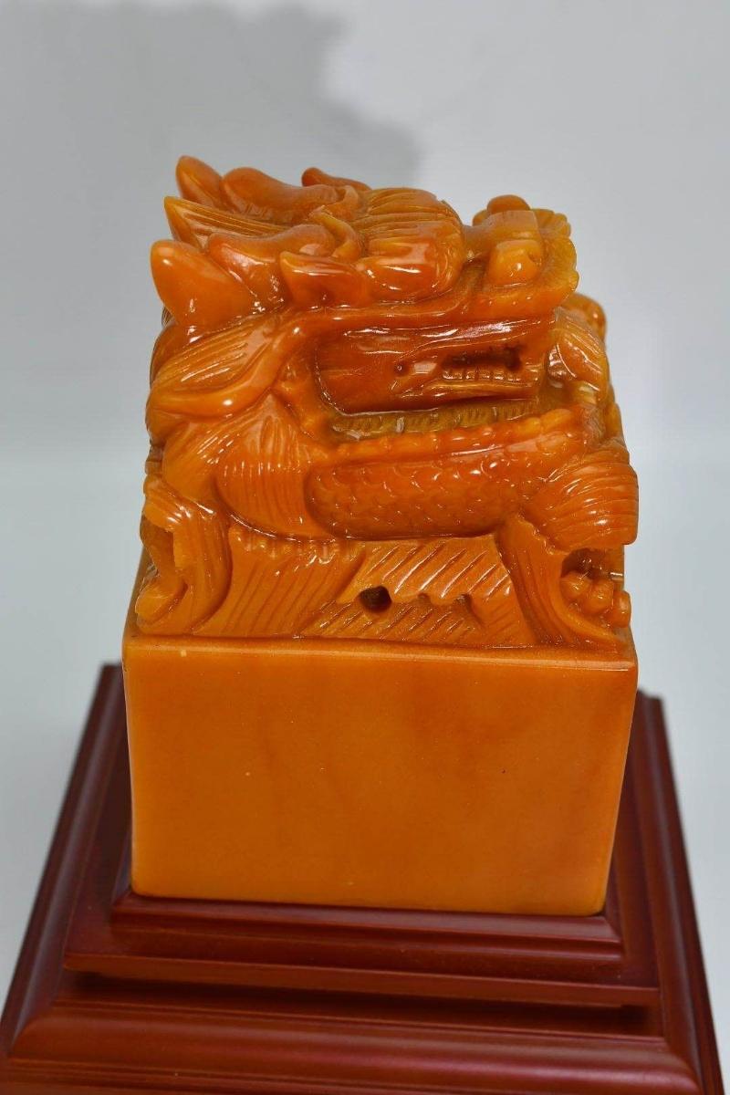 中国古美術 印材 印鑑 篆刻 寿山石 原石彫刻 書道具貴重 田黄石 _画像2