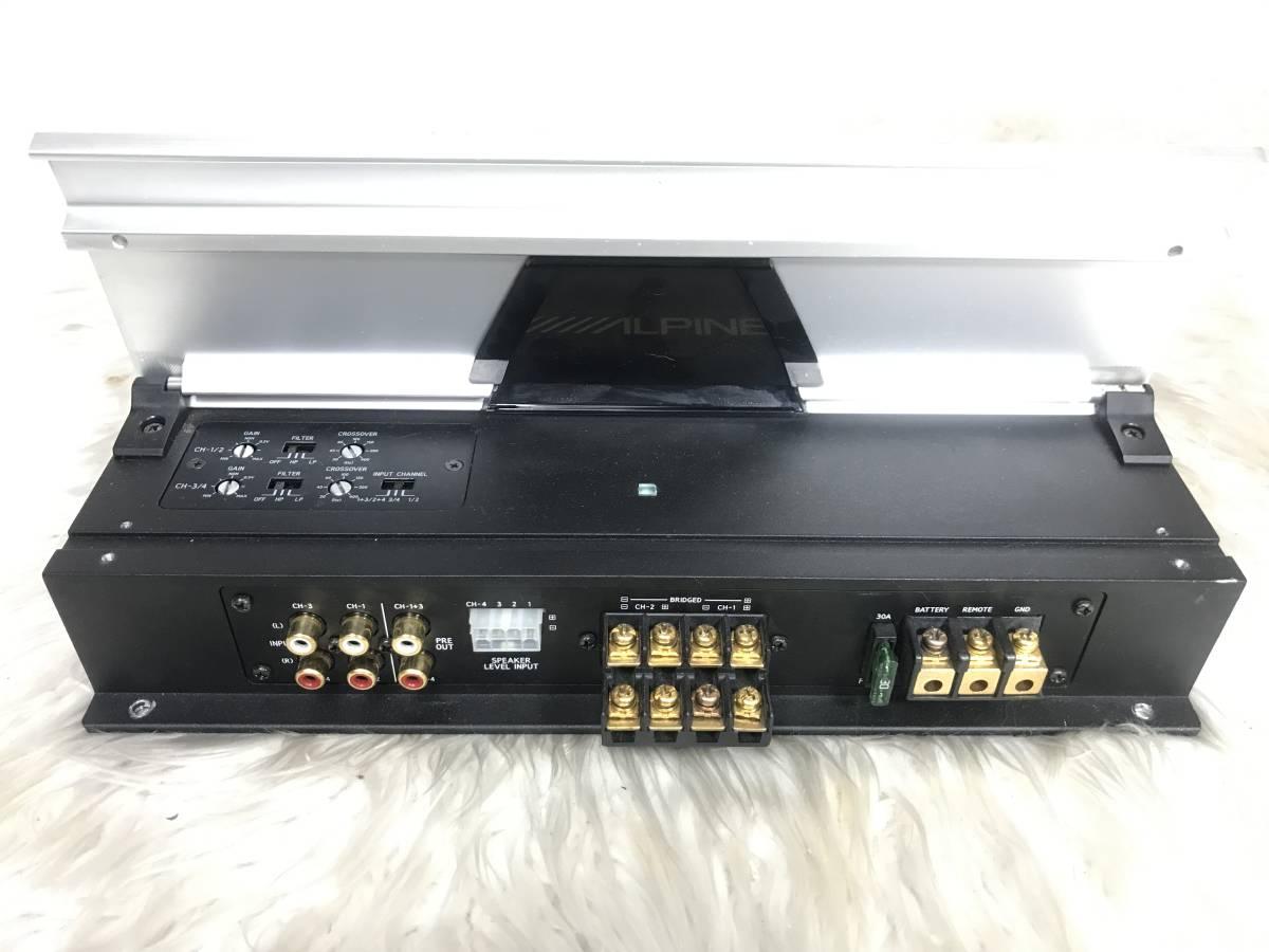 ★ALPINE/アルパイン V12シリーズ4chアンプ MRV-F340 検Clarioncarrozzerikenwoodfocalbose_画像4