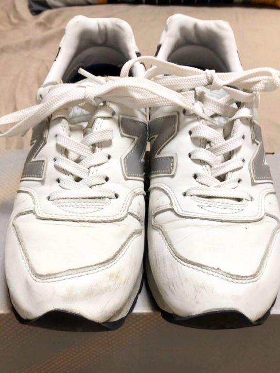 ニューバランス Newbalance 996 白 ホワイト 使用少な目 革製26cm _画像7