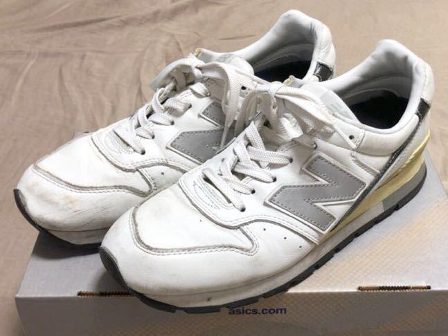 ニューバランス Newbalance 996 白 ホワイト 使用少な目 革製26cm