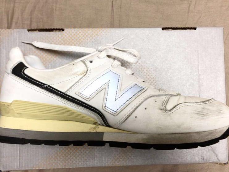 ニューバランス Newbalance 996 白 ホワイト 使用少な目 革製26cm _画像6
