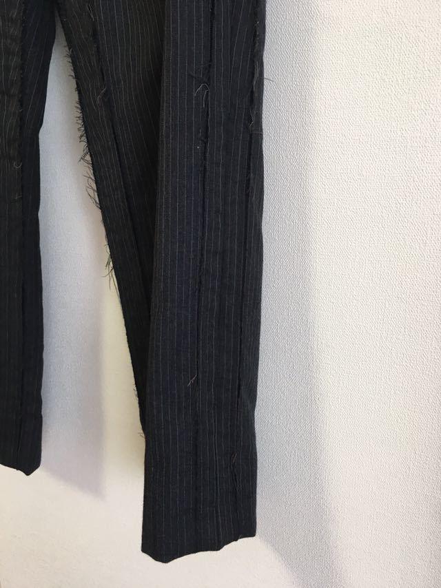 マルタン マルジェラ アーティザナル 0 10 ストライプ ウール スラックス サイズ3_画像10