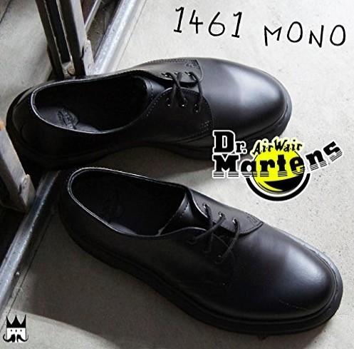 ★新品★ドクターマーチン Dr.Martens 希少 レア 1461 MONO 3ホール ブラック シューズ UK8 27.0cm BLACK★
