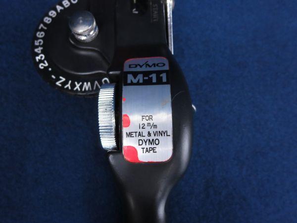★ダイモテープライターDYMO M-11 FOR 12m/m METAL&VINYL DYMO TAPE★消費税0円_画像3