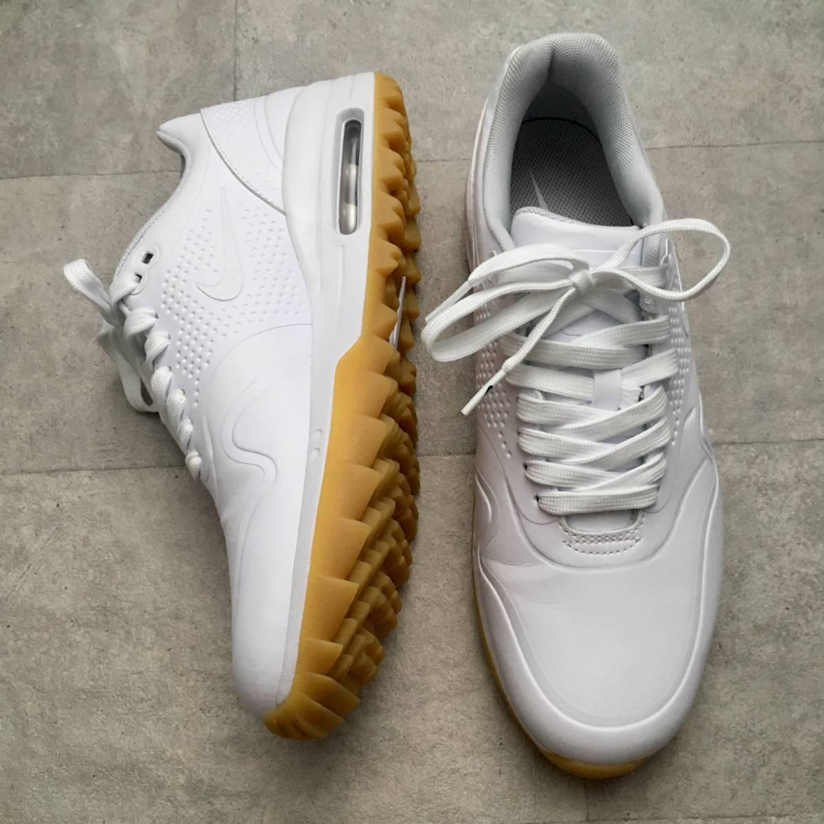 nike air max 1g golf shoes 2019 white/white/gum