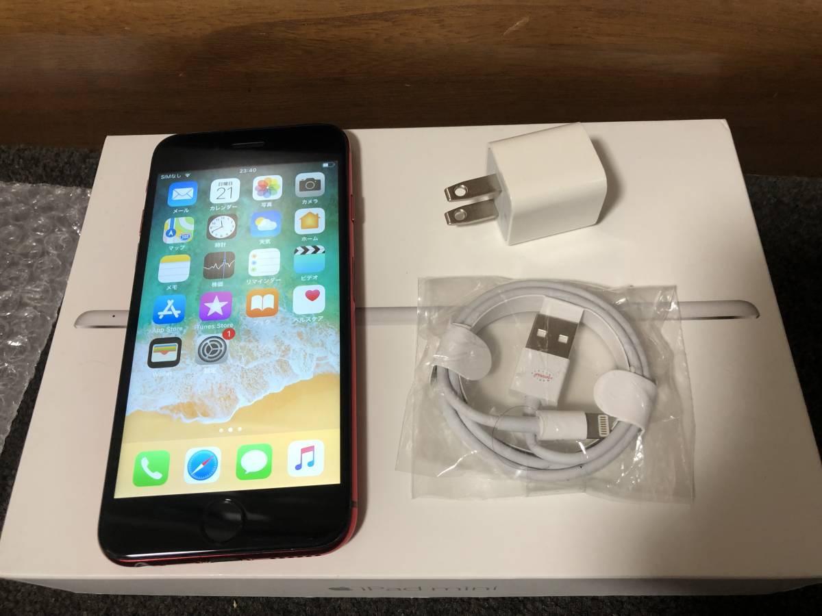 【外装新品】au iPhone6S 16GB ブラック/レッド ネットワーク利用制限〇 8風_画像9
