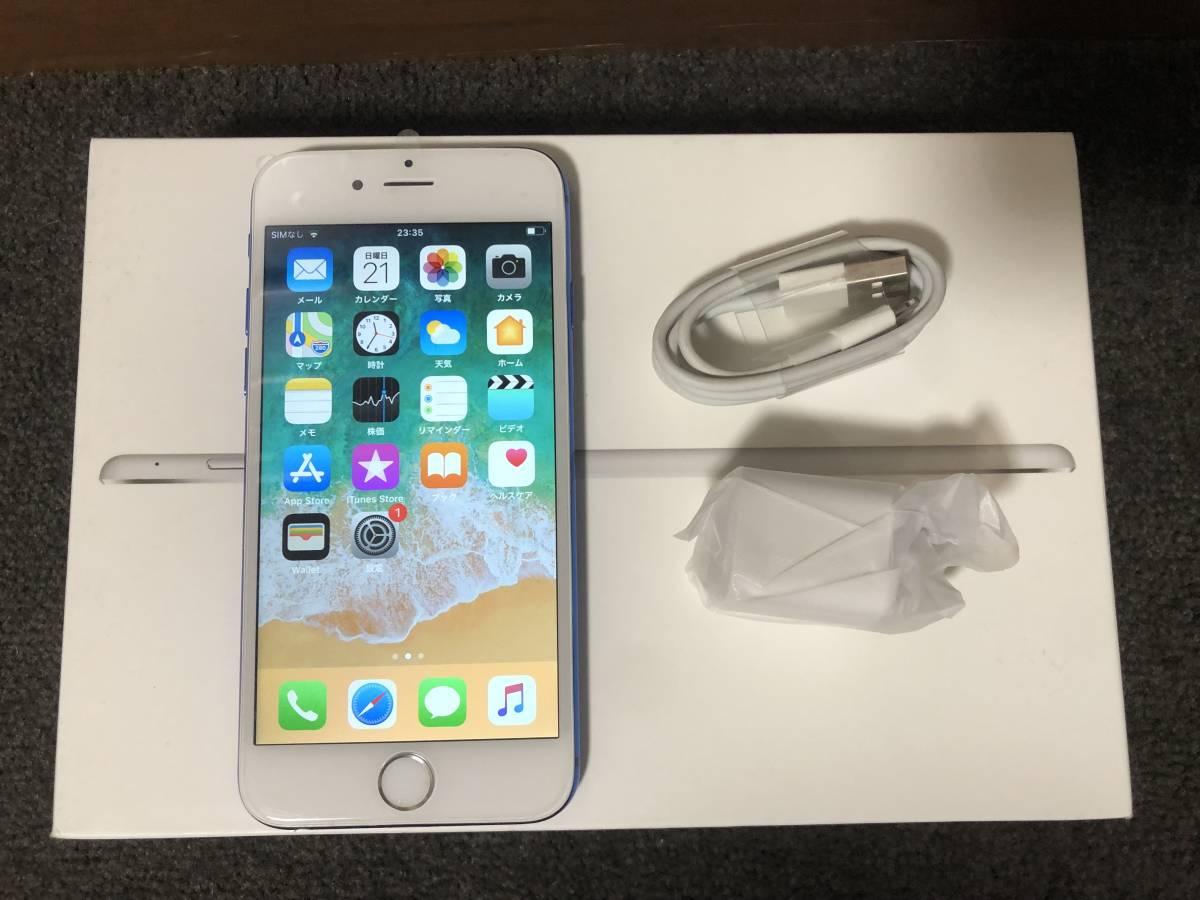 【外装新品】au iPhone6 16GB ホワイト/ブルー ネットワーク利用制限〇 8風_画像9