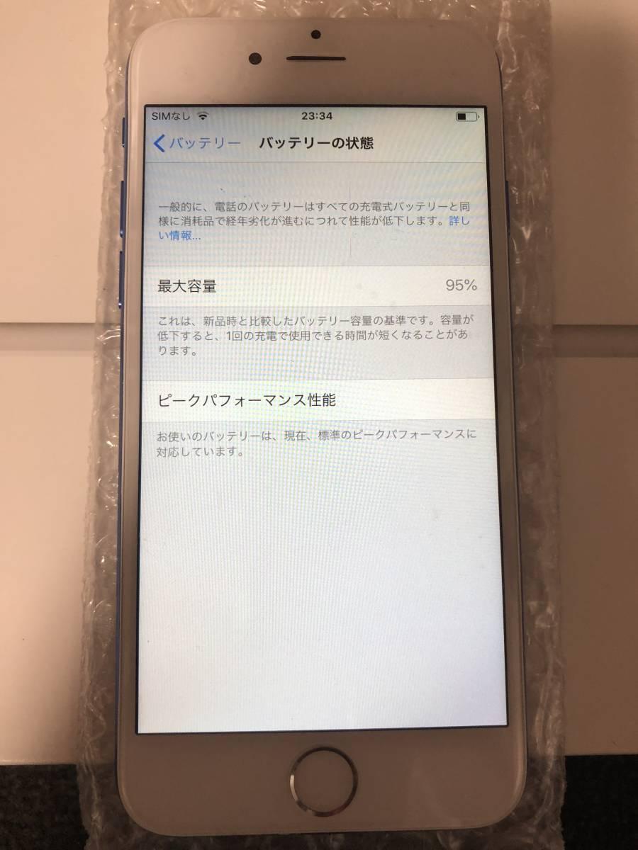 【外装新品】au iPhone6 16GB ホワイト/ブルー ネットワーク利用制限〇 8風_画像4