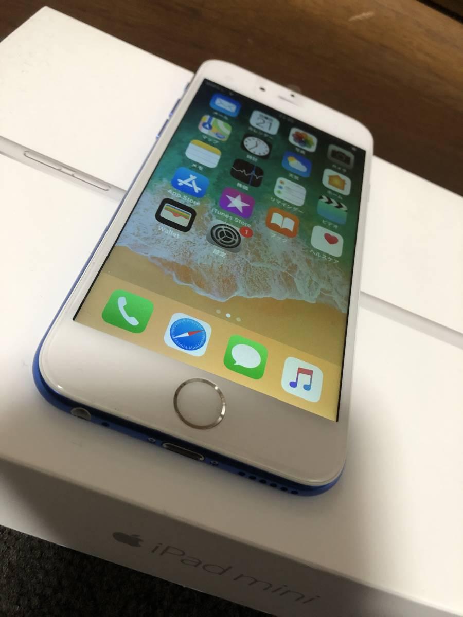 【外装新品】au iPhone6 16GB ホワイト/ブルー ネットワーク利用制限〇 8風_画像2