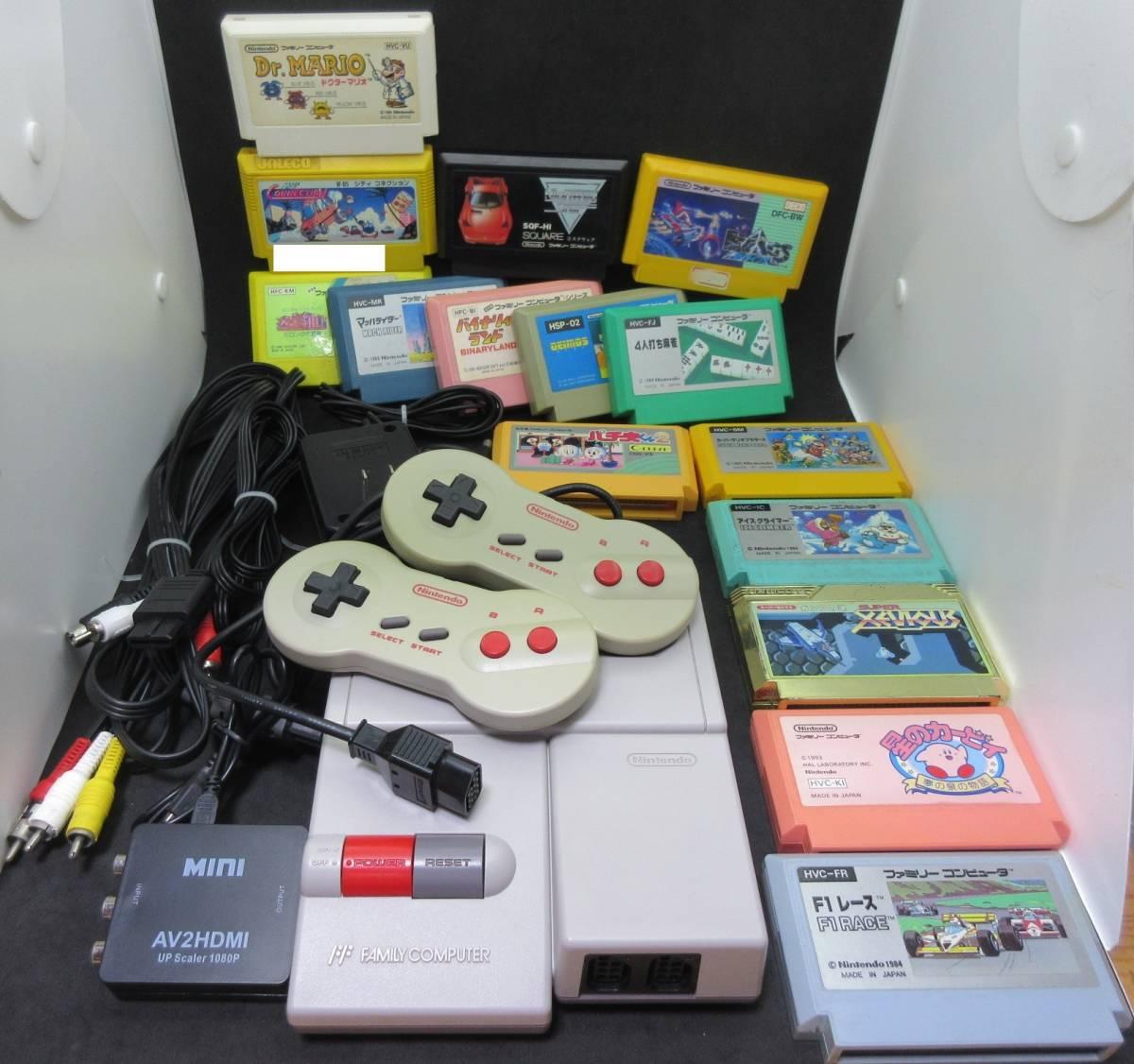 42163 Nintendo 任天堂 ファミリーコンピュータ ファミコン HVC-NFF AV仕様 ソフト付き