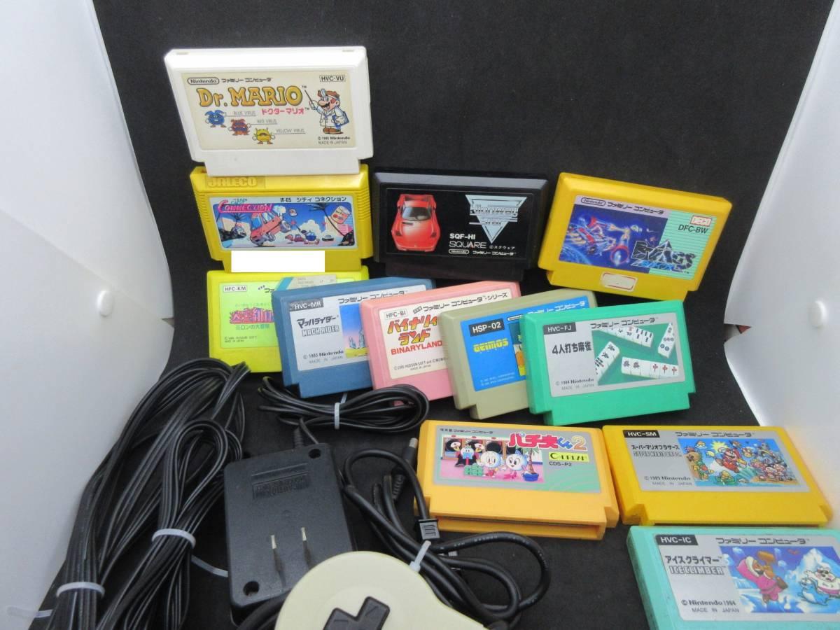 42163 Nintendo 任天堂 ファミリーコンピュータ ファミコン HVC-NFF AV仕様 ソフト付き_画像3