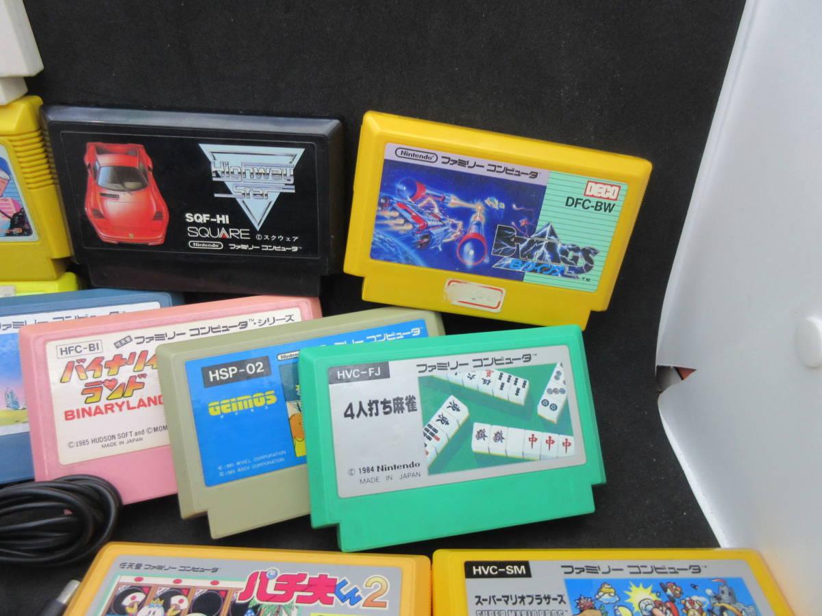 42163 Nintendo 任天堂 ファミリーコンピュータ ファミコン HVC-NFF AV仕様 ソフト付き_画像4