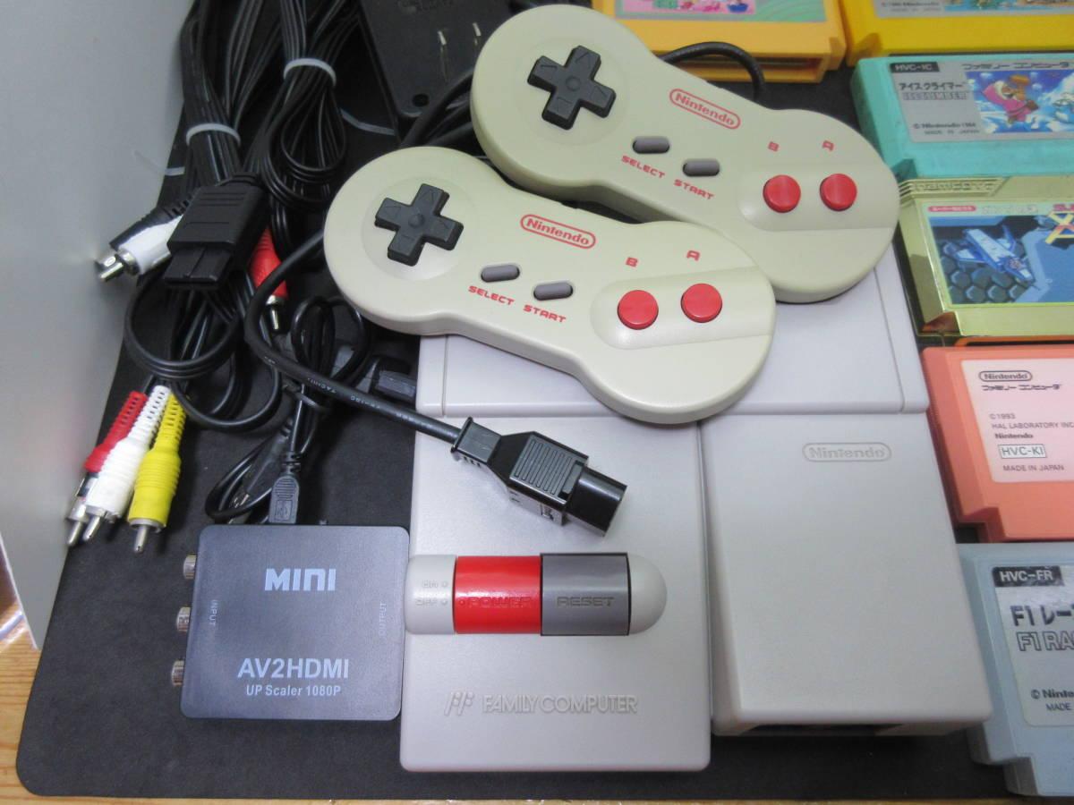42163 Nintendo 任天堂 ファミリーコンピュータ ファミコン HVC-NFF AV仕様 ソフト付き_画像2