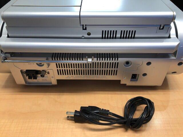 【1485】1円即決 ラジカセ Victor ビクター CD MD カセット ポータブルシステム Clavia RC-X5MD-S リモコン付き 中古_画像3