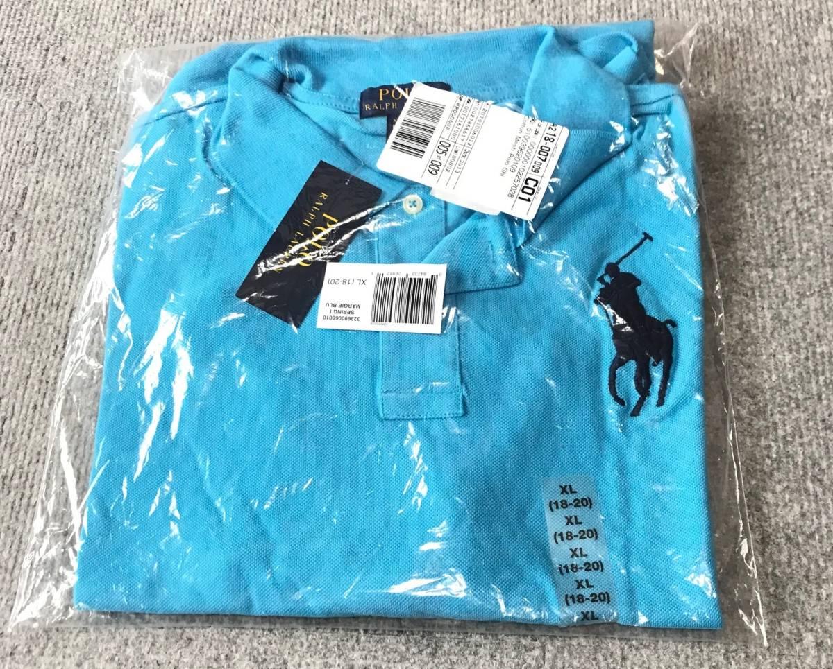ポロラルフローレン正規品 半袖ポロシャツ マージーブルー 日本サイズM~L タグ付き新品未着用_画像2