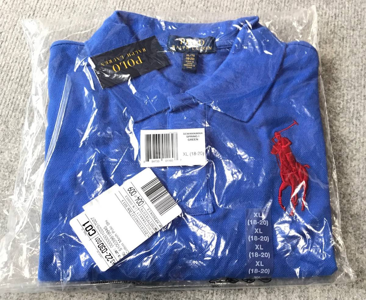 ポロラルフローレン正規品 タグ付き新品未着用 半袖ポロシャツ アイリスブルー 日本サイズM~L_画像2
