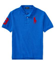 ポロラルフローレン正規品 タグ付き新品未着用 半袖ポロシャツ アイリスブルー 日本サイズM~L