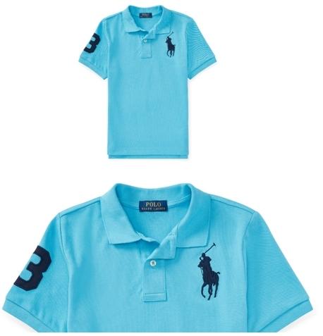 ポロラルフローレン正規品 半袖ポロシャツ マージーブルー 日本サイズM~L タグ付き新品未着用