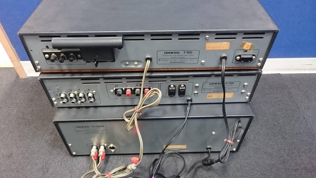 ■ONKYO T-100 A-100 TA-600 オンキョー チューナー アンプ カセットデッキ おまとめ_画像6