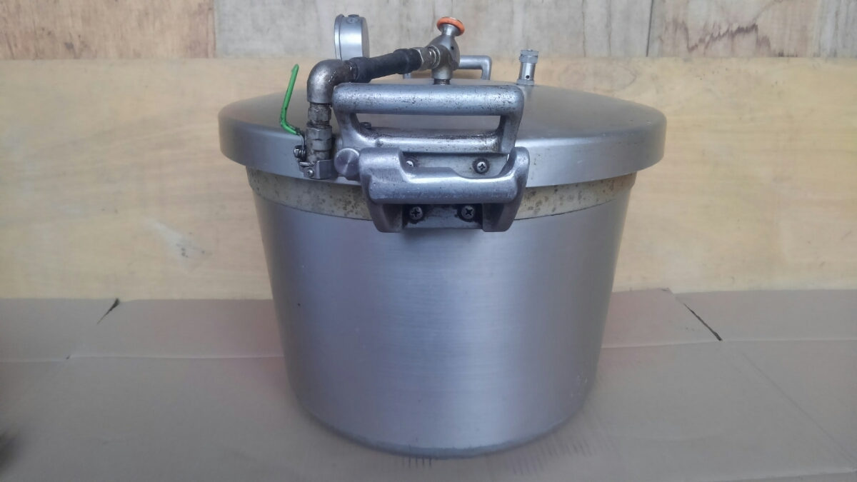 t3337、圧力鍋、両手鍋、調理器具、動作未_画像6