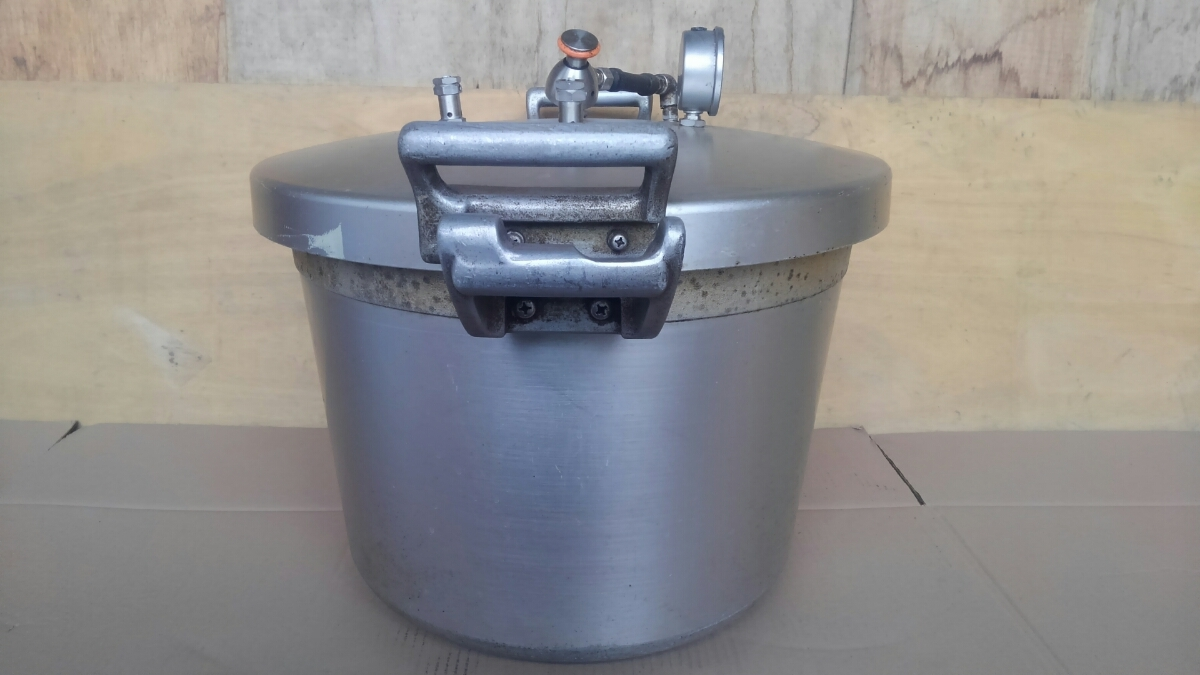 t3337、圧力鍋、両手鍋、調理器具、動作未_画像4
