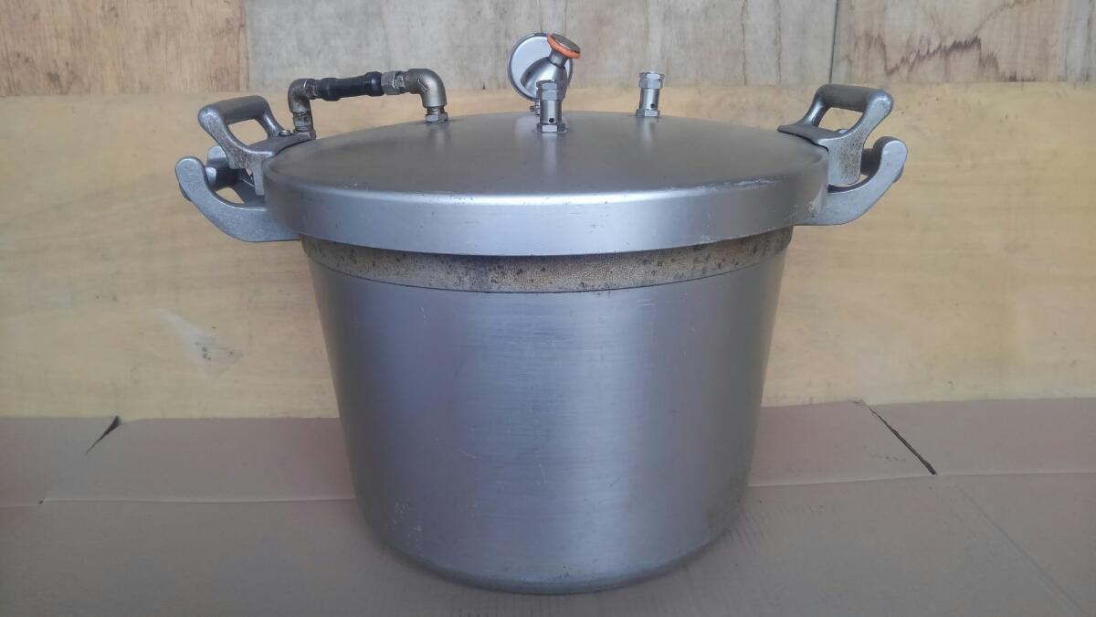 t3337、圧力鍋、両手鍋、調理器具、動作未_画像5