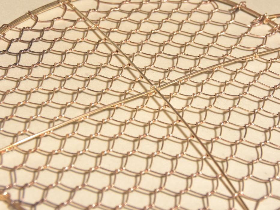 大阪 芝翫香製 純銀網 未使用 径:21㎝ 重さ:100g 共箱 シルバー 金属工芸   b5709s_画像7