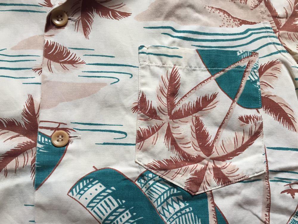 50's Catalina コットンシャツ 30's 40's ビンテージ ハワイアンシャツ アロハシャツ_画像5