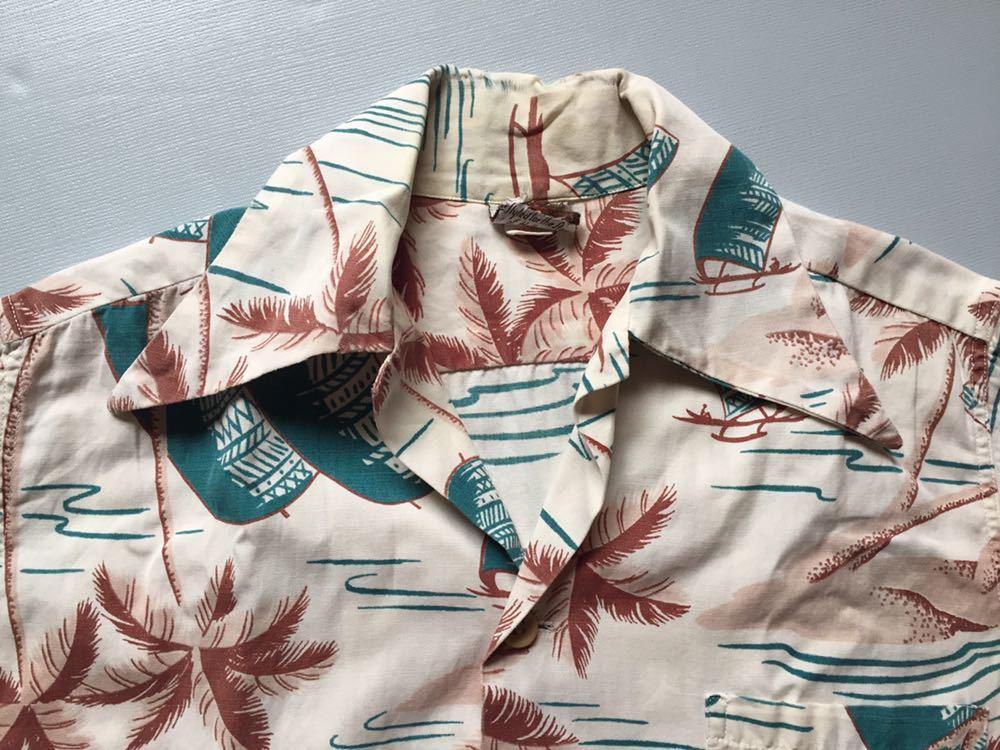 50's Catalina コットンシャツ 30's 40's ビンテージ ハワイアンシャツ アロハシャツ_画像3